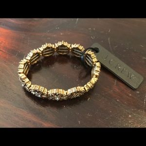 J. Crew Jewelry - 💻CYBER SALE💻J Crew Jeweled Elastic Bracelet NWOT